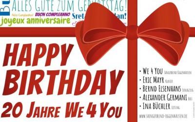 We4You feiert Geburtstag